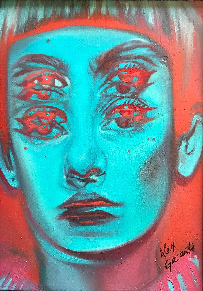 "Alex Garant - ""Hologram Study"" - oil on canvas - 12.7 x 17.8cm (5""x7"")"