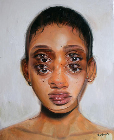 "Alex Garant - 'La Reine' - oil on canvas - 40.6 x 50.8cm (16""x20"")"