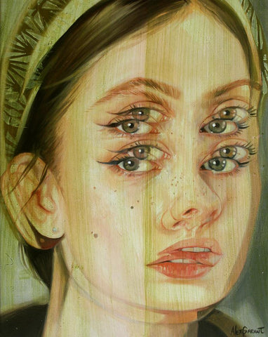 "Alex Garant - 'Specs' - oil on canvas - 30.5 x 40.6cm (12""x16"")"
