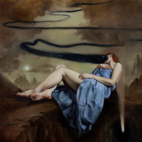 "Ania Tomicka - ""Presence"" - oil on canvas - 20 x 20cm (7.8""x7.8"")"