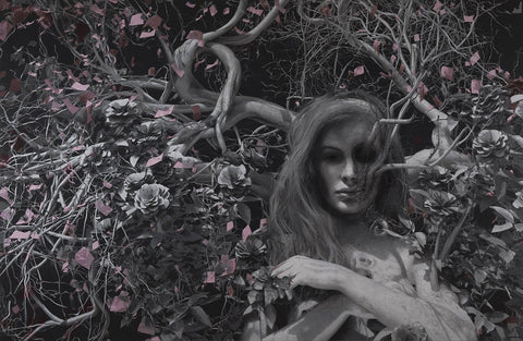 "Ben Howe - ""Briar Rose"" - oil on board, 134 x 87cm (52.8""x34.3"")"