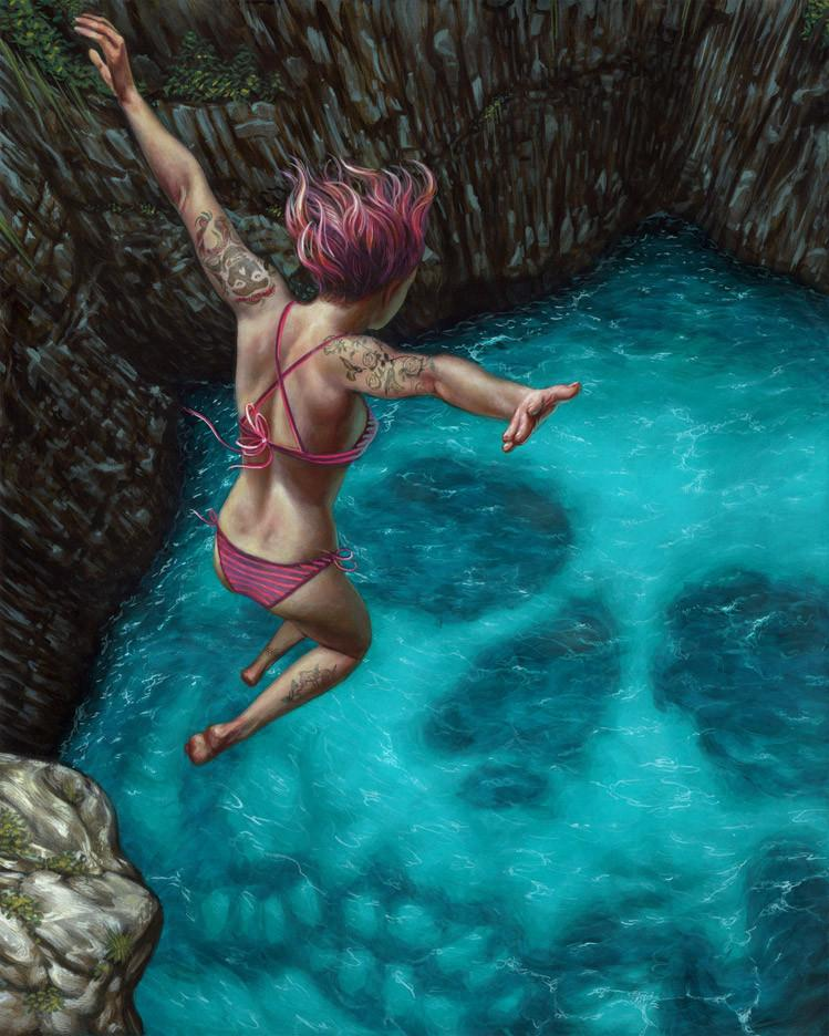 "Casey Weldon - ""Death Perception"" - acrylic on wood panel"