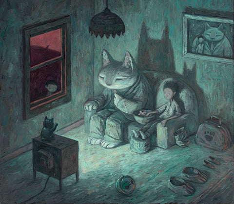 "Shaun Tan - ""Never Give Your Keys To A Stranger"" - limited edition print of 300 - 60x53.5cm (23.6""x21.1"")"