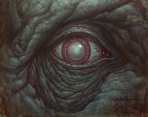 "Chet-Zar - ""Eye"" - oil on panel - 20.3 x 25.4cm (8""x10"")"