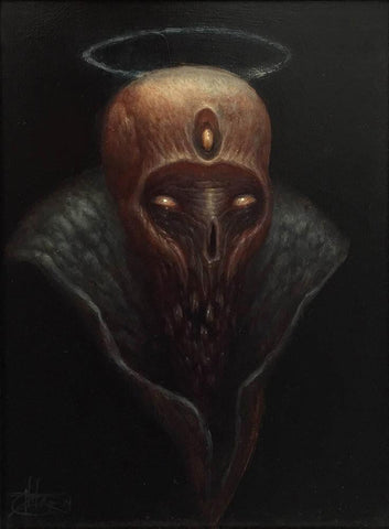 "Chet Zar - ""Untitled"" - oil on panel - 20.3 x 25.4cm (8""x10"")"