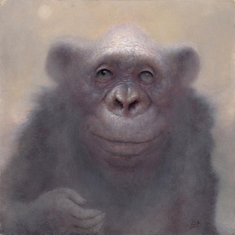 "Chris Leib - 'Envy for the Doomed' - oil on panel - 15.2 x 15.2cm (6""x6"")"