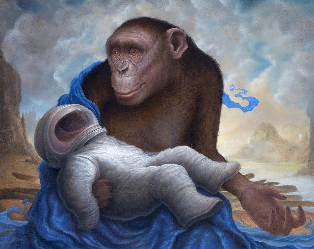 "Chris Leib - ""Paniscus Pieta"" - oil on board - 40.6 x 50.8cm (16""x20"")"