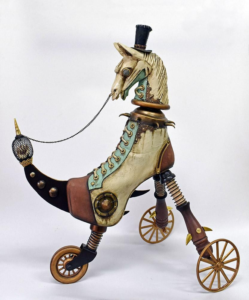 "Costa Magarakis - ""1888JTR"" - mixed media on fiberglass, Approx. 47cm (18.5"")"