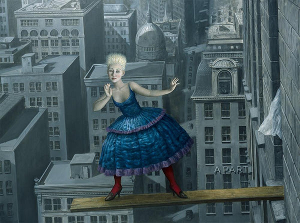 "Mike Worrall - ""Disparnumerophobia"" or ""The fear of odd numbers"" - limited edition print"