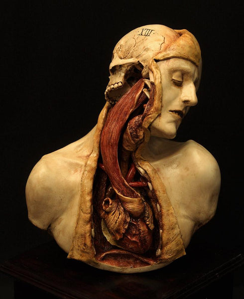 "Emil Melmoth - ""Arcane XIII"" (Transfiguration) - epoxy clay & varnished wood. - 40 x 40 x 65cm (15.7""x15.7""x25.6"")"