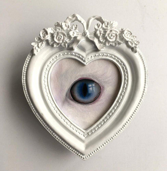 "Emma Mount - ""Lovers Eye #39"" - oil on card - 11.5 x 13.5cm (4.5""x5.3"")"