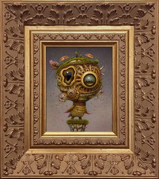 "Naoto Hattori - ""Free Minded"" - acrylic on board - 11 x 13.4cm (4.3""x5.3"")"