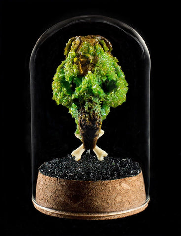 "Gerard Geer - ""Moss Crystal Gopher Skull"" - crystallised gopher skull in glass dome"