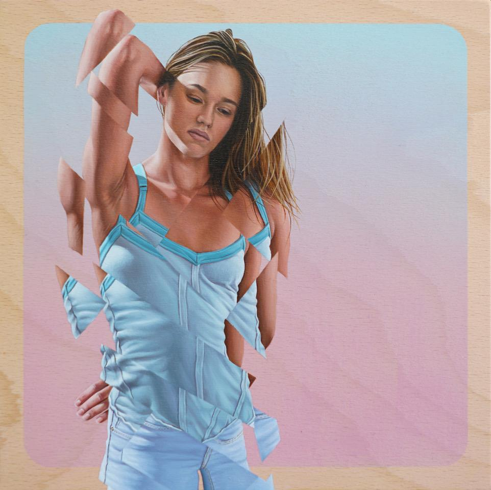 "James Bullough - 'Morning Light' - oil on panel - 25.4 x 25.4cm (10""x10"")"