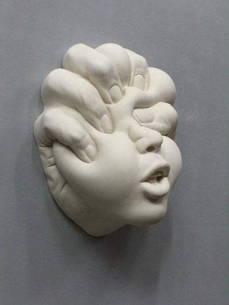 "Johnson Tsang - ""Lucid Dream -  Shaping Love"" - Porcelain - 24 x 21 x 10cm (9.4""x8.3""x3.9"")"