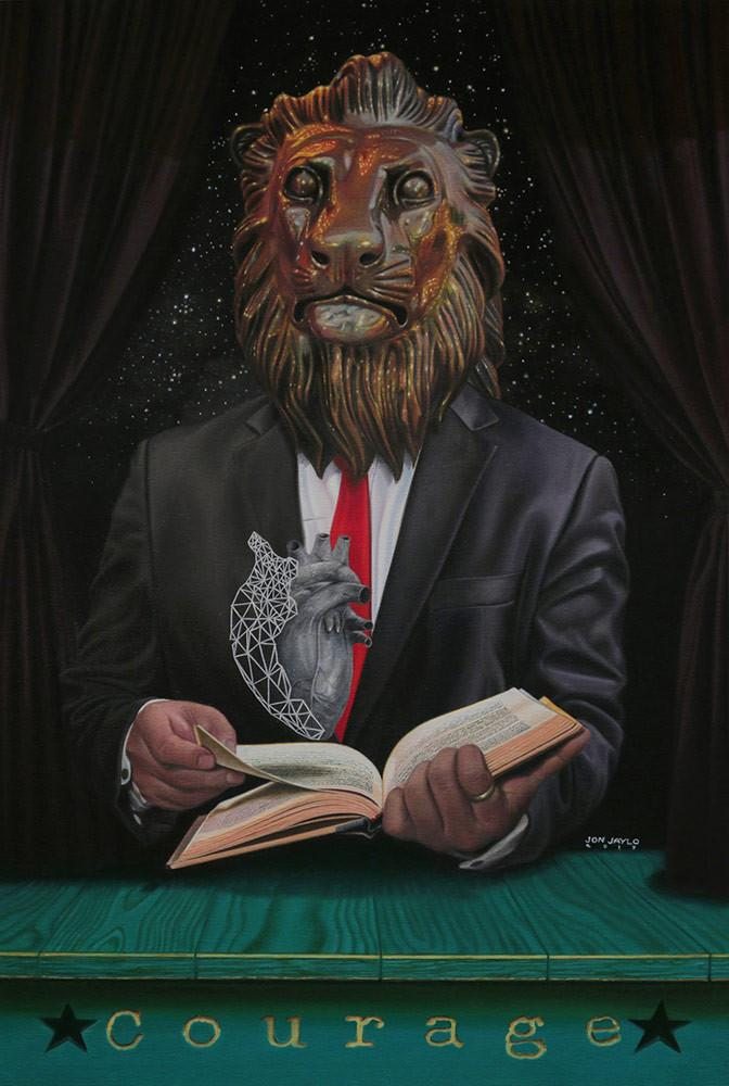 "Jon Jaylo - ""The Anatomy Of Courage"" - oil on canvas - 50.8 x 76.2cm (20""x30"") *price on enquiry"