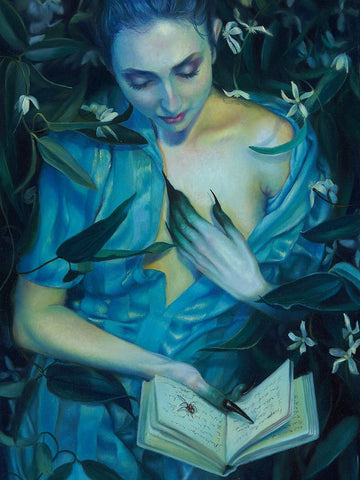 "Kari-Lise Alexander - 'Picking the Perfect Poison #2' - oil on panel - 30.5 x 40.6cm (12""x16"")"