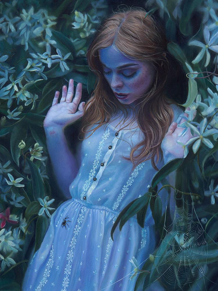 "Kari-Lise Alexander - 'When You Bite the One You Love' - oil on panel - 30.5 x 40.6cm (12""x16"")"