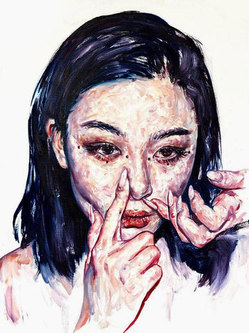 "Kim Hyunji - ""Mel""- oil on linen - 46 x 61cm (18""x24"")"