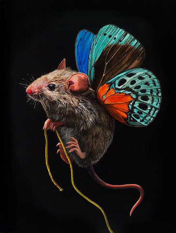 "Lisa Ericson - ""Small Fortune"" - acrylic on wood panel - 15.2 x 20.3cm (6""x8"")"