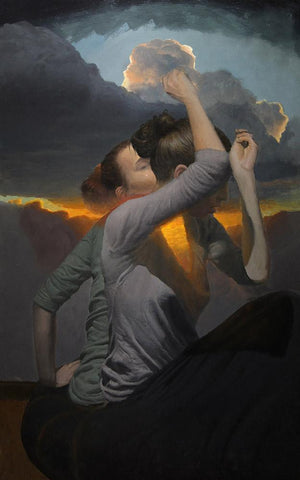 "Lukifer Aurelius - ""Whisper""- oil on aluminium panel - 38 x 60cm (15""x23.6"")"