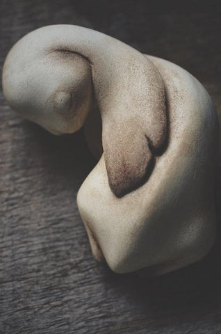 "Mahlimae - ""Rabbit"" - stone clay - 4 x 5.5cm (1.6""x2.2"")"