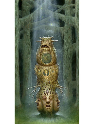 "Matt Dangler - ""The Trinity Relic"" - oil on panel - 22.9 x 40.6cm (9""x16"")"