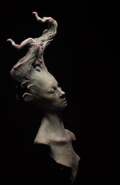 "Matthew Levin - ""Reverie"" - hand painted resin casting - 30.5cm (12""H)"