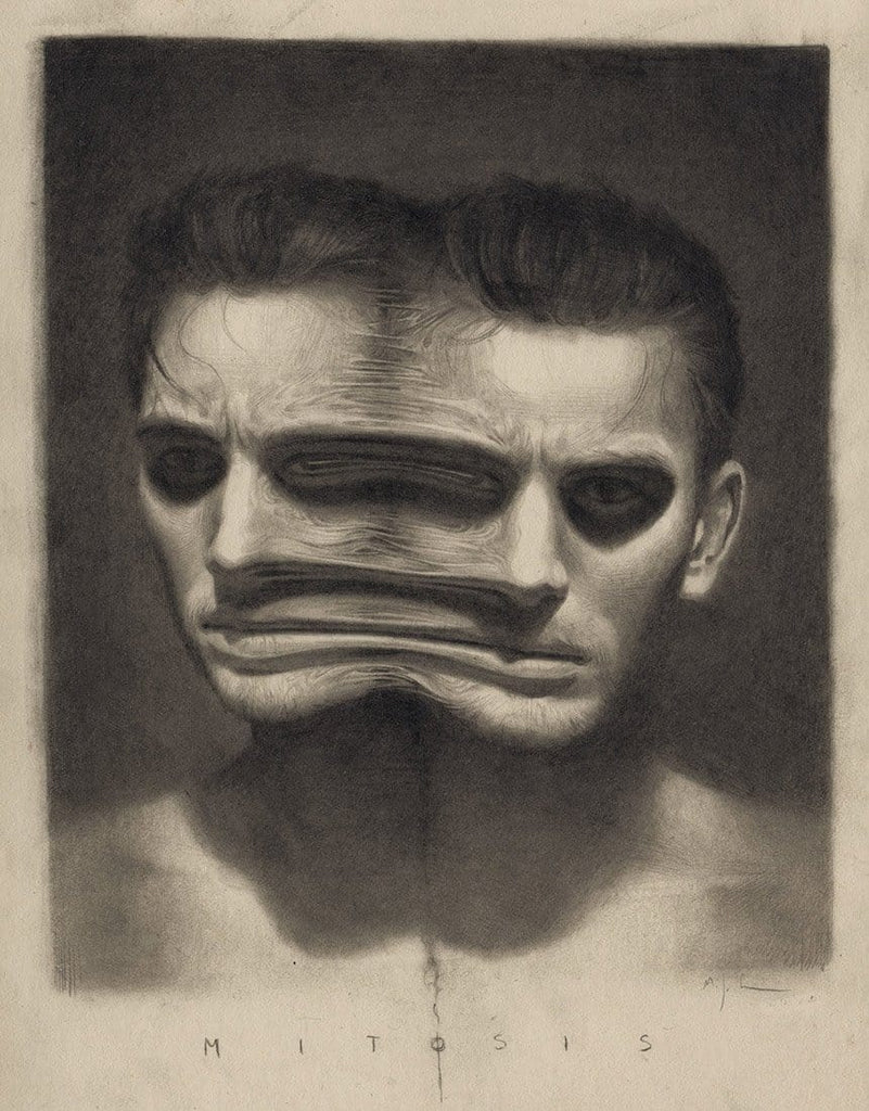 "Miles Johnston - 'Mitosis' - graphite on Moleskin paper - 13 x 21cm (5""x8.2"")"