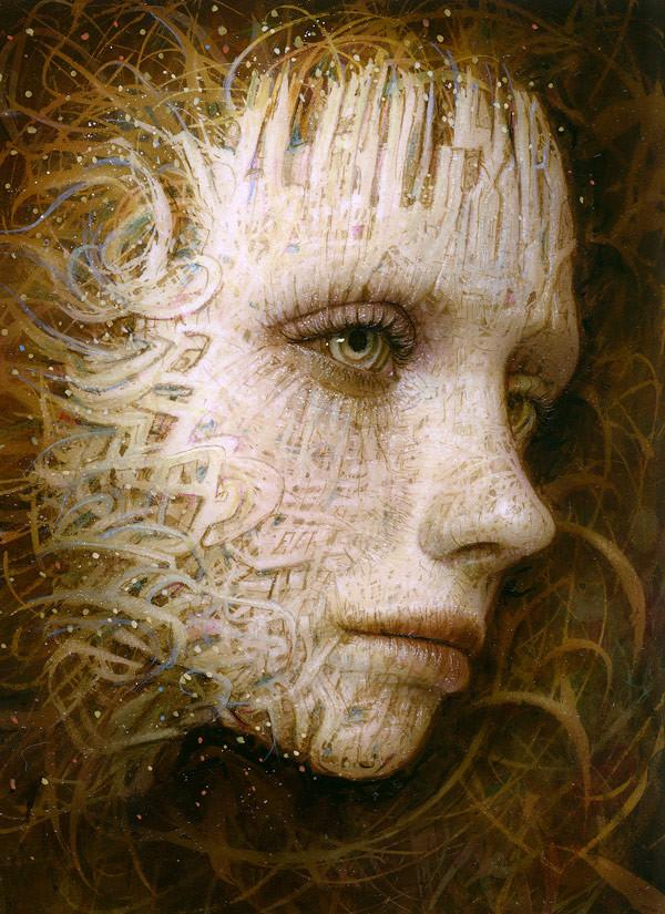 "Naoto Hattori - ""Recollection 51"" - acrylic on board - 8.9 x 12.2cm (3.5""x4.8"")"