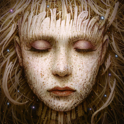 "Naoto Hattori - ""Recollection 58"" - acrylic on board - 10.2 x 10.2cm (4""x4"")"