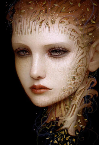 "Naoto Hattori - ""Recollection 40"" - acrylic on board - 10.2 x 15.2cm (4""x6"")"