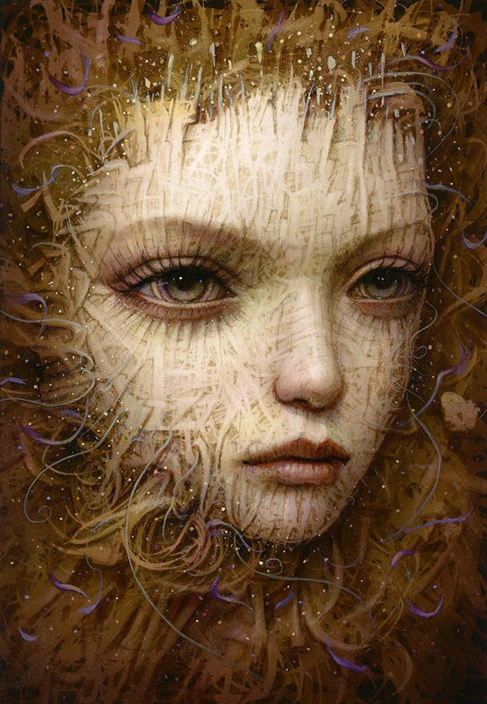 "Naoto Hattori - ""Recollection 50"" - acrylic on board - 10.2 x 15.2cm (4""x6"")"