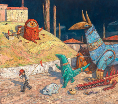 "Shaun Tan - ""Never Be Late For A Parade"" - limited edition print of 300 - 60x53.5cm (23.6""x21.1"")"