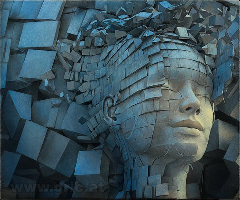 "Peter Gric - ""Dissolution of Ego"" - limited edition print of 99 - 49 x 43cm (19.3""x16.9"")"