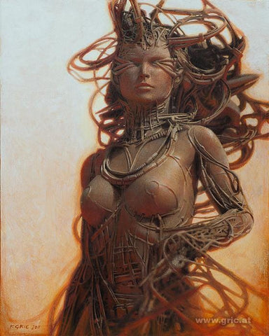 "Peter Gric - ""Gynoid IV"" - limited edition print of 99 - 49 x 43cm (19.3""x16.9"")"