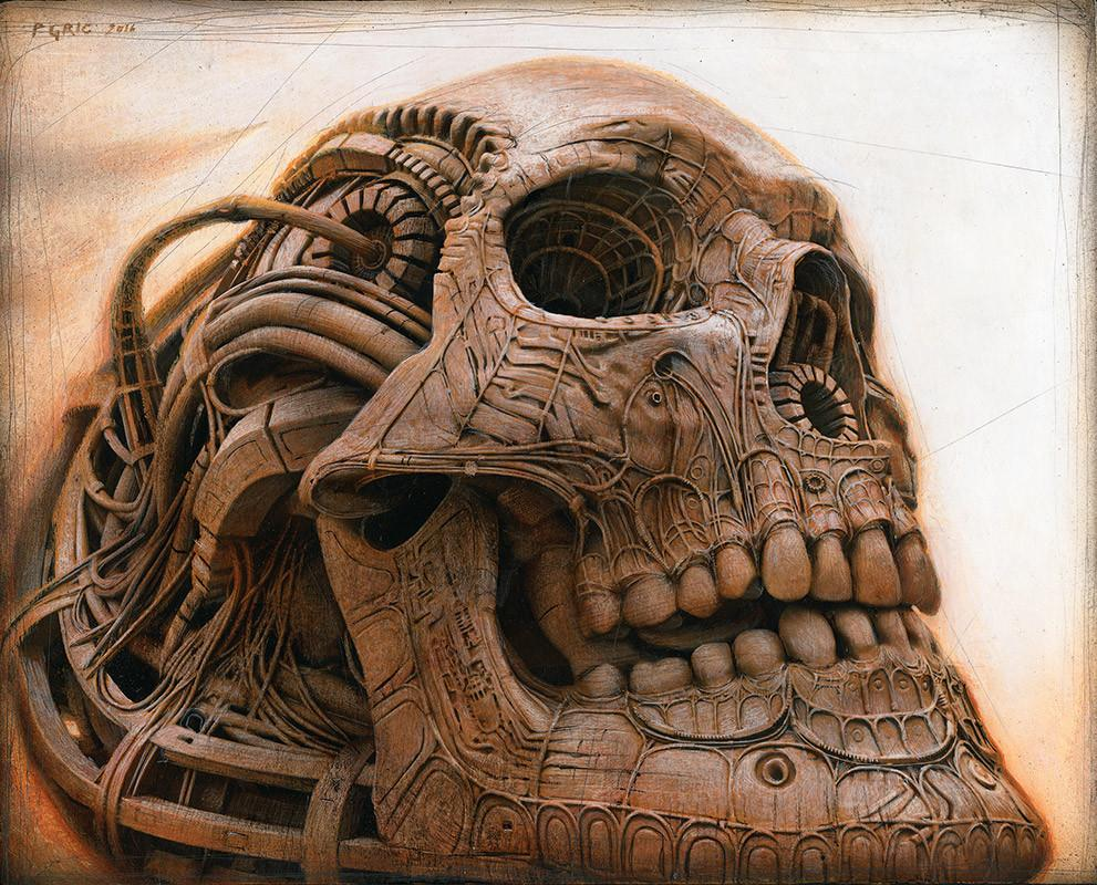 "Peter Gric - ""Modified Skull"" - limited edition print *free shipping"