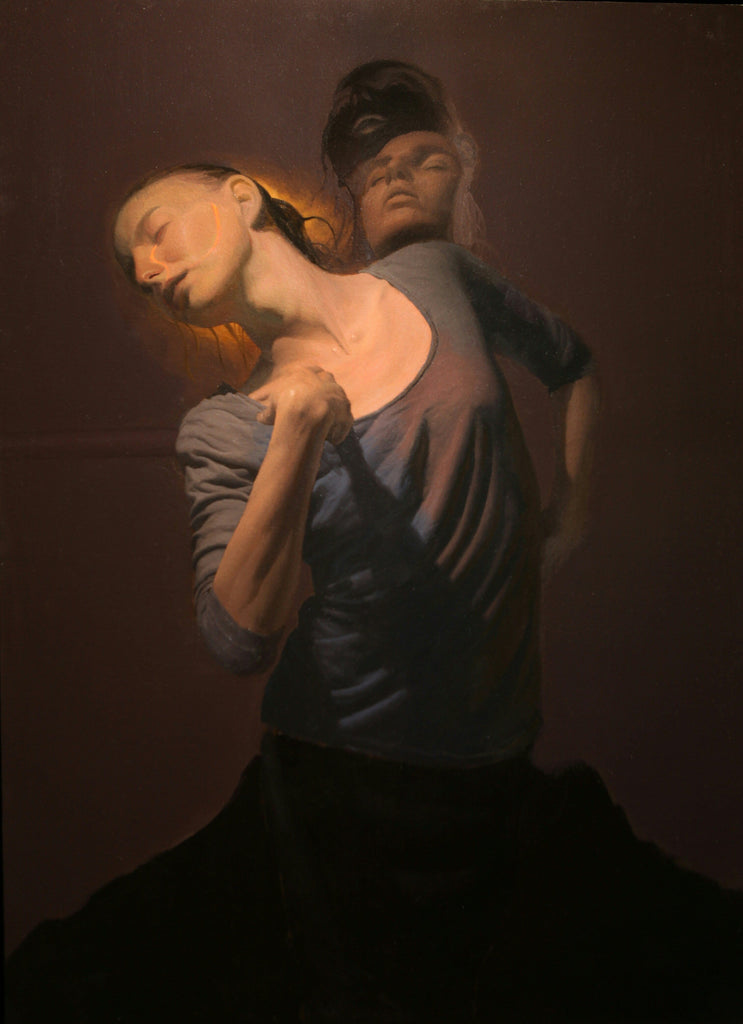 "Lukifer Aurelius - 'Remembrance' - oil on aluminium panel - 60 x 85cm (23.6""x33.5"")"
