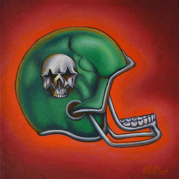 "Ron English - ""Team Popaganda"" - oil on canvas - 20.3x 20.3cm (8""x8"")"