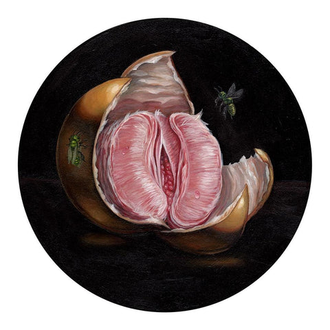 "Sam Yong - ""Flesh"" - acrylic on wood panel - 19.7 x 19.7cm (7.7""x7.7"")"