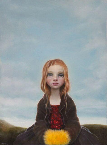 "Sarah Dolby - 'Day Dreamer' - oil on board - 14 x 20cm (5.5""x8"")"