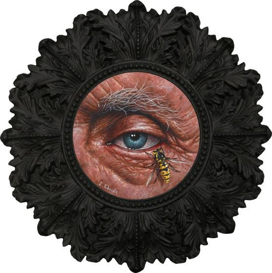 "Scott Scheidly - ""Eye #2"" - acrylic on masonite - 8.9cm (3.5"")"