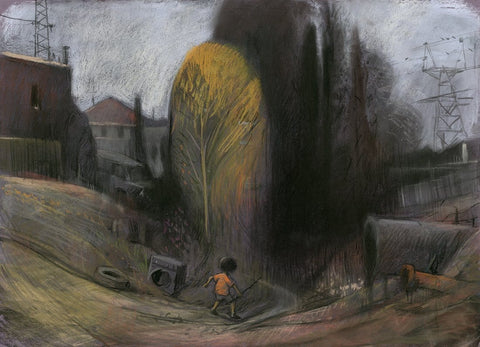 "Shaun Tan - The shadow place - pastel on paper- 75 x 55cm (29.5""x21.6"")"