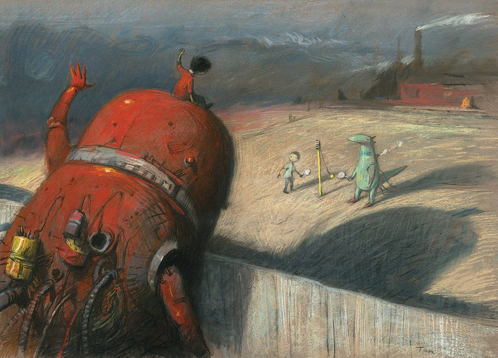 "Shaun Tan - 'Anything you can do, I can do better' (2015) - pastel on paper - 65 x 50cm (25.6""x19.7"")"