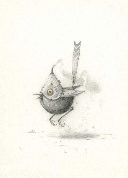 "Shaun Tan - ""Bee Eater"" (2010) - pencil on paper"