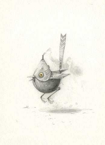 "Shaun Tan - ""Bee Eater"" (2010) - pencil on paper - 21 x 29.7cm (8.2""x11.6"")"