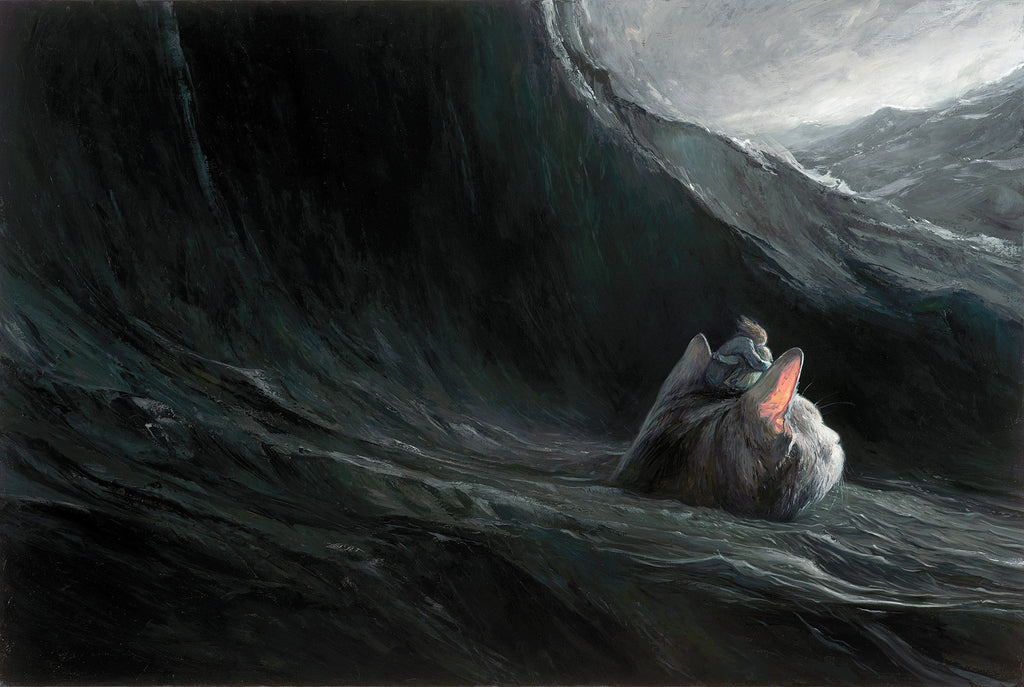"Shaun Tan - ""Crossing"" - limited edition print of 300 - 48.3x33cm (19""x13"")"