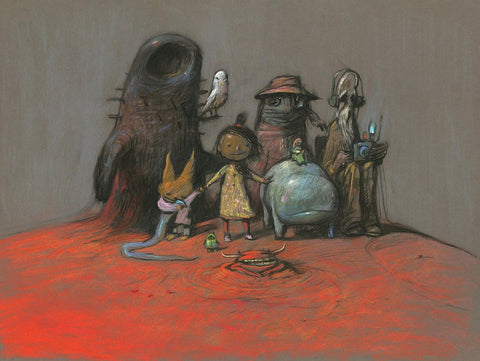 "Shaun Tan - ""Family Portrait"" (2017) - pastel on paper - 75 x 55cm (29.5""x21.6"")"