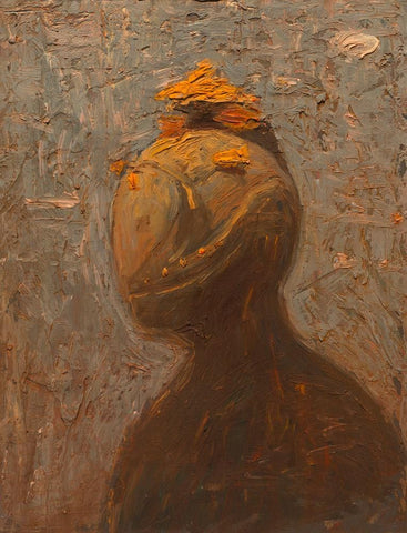"Shaun Tan - ""Head: Autumn"" (2012) - oil on board- 20 x 15cm (7.8""x6"")"
