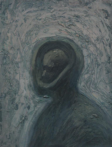 "Shaun Tan - ""Head: Inner Self"" (2012) - oil on board- 20 x 15cm (7.8""x6"")"